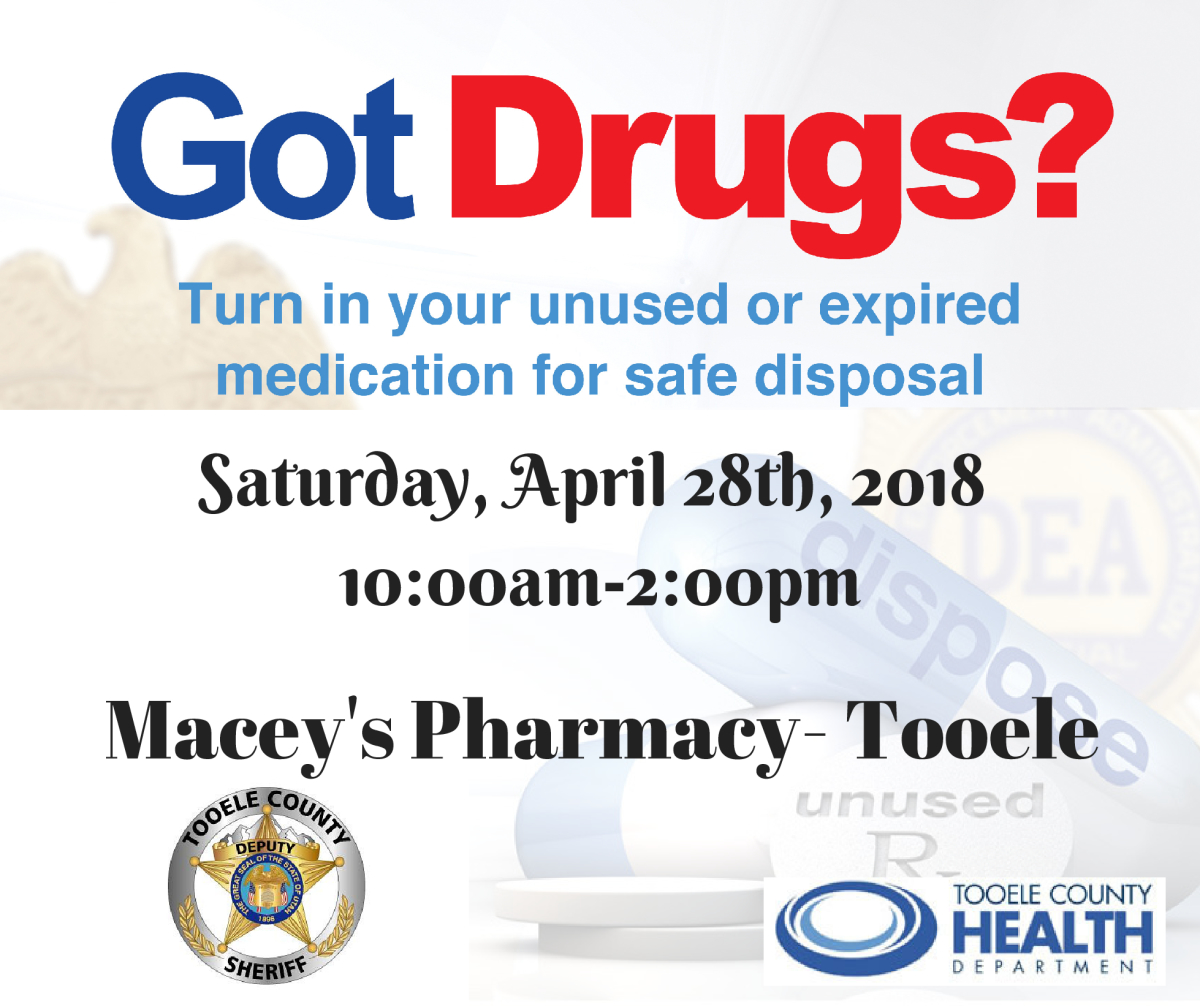 Tooele County Sheriff's Office - Drug Take Back @ Macey's Pharmacy - Tooele | Tooele | Utah | United States