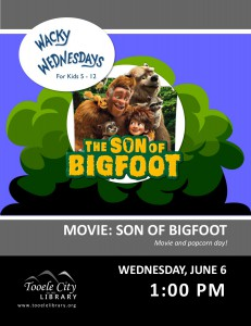 Wacky Wednesday: Son of Bigfoot Movie @ Tooele City Library | Tooele | Utah | United States