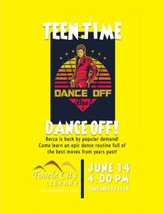 Teen Time: Dance Off with Becca @ Tooele City Library | Tooele | Utah | United States