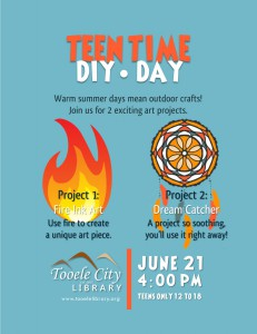 Teen Time: Fire Art and Dream Catchers @ Tooele City Library | Tooele | Utah | United States