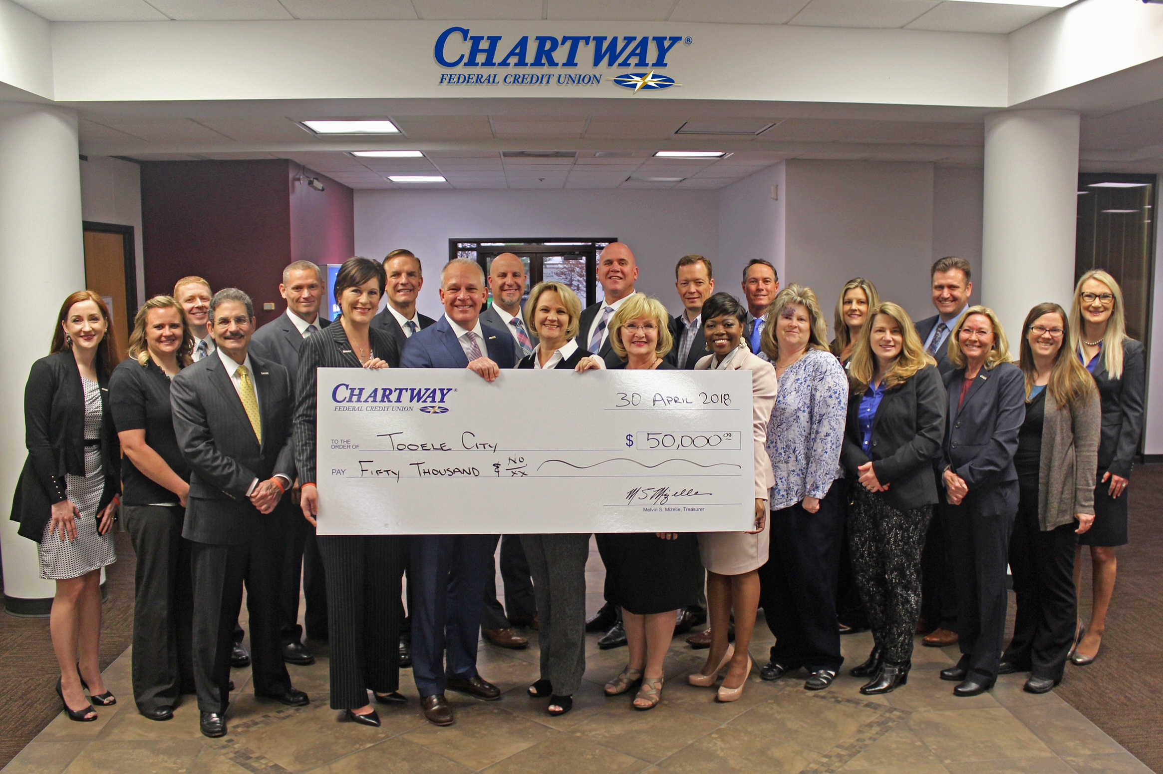 Chartway Federal Credit Union Donates $50000 to Support Tooele Baseball Fields (04-30-18)
