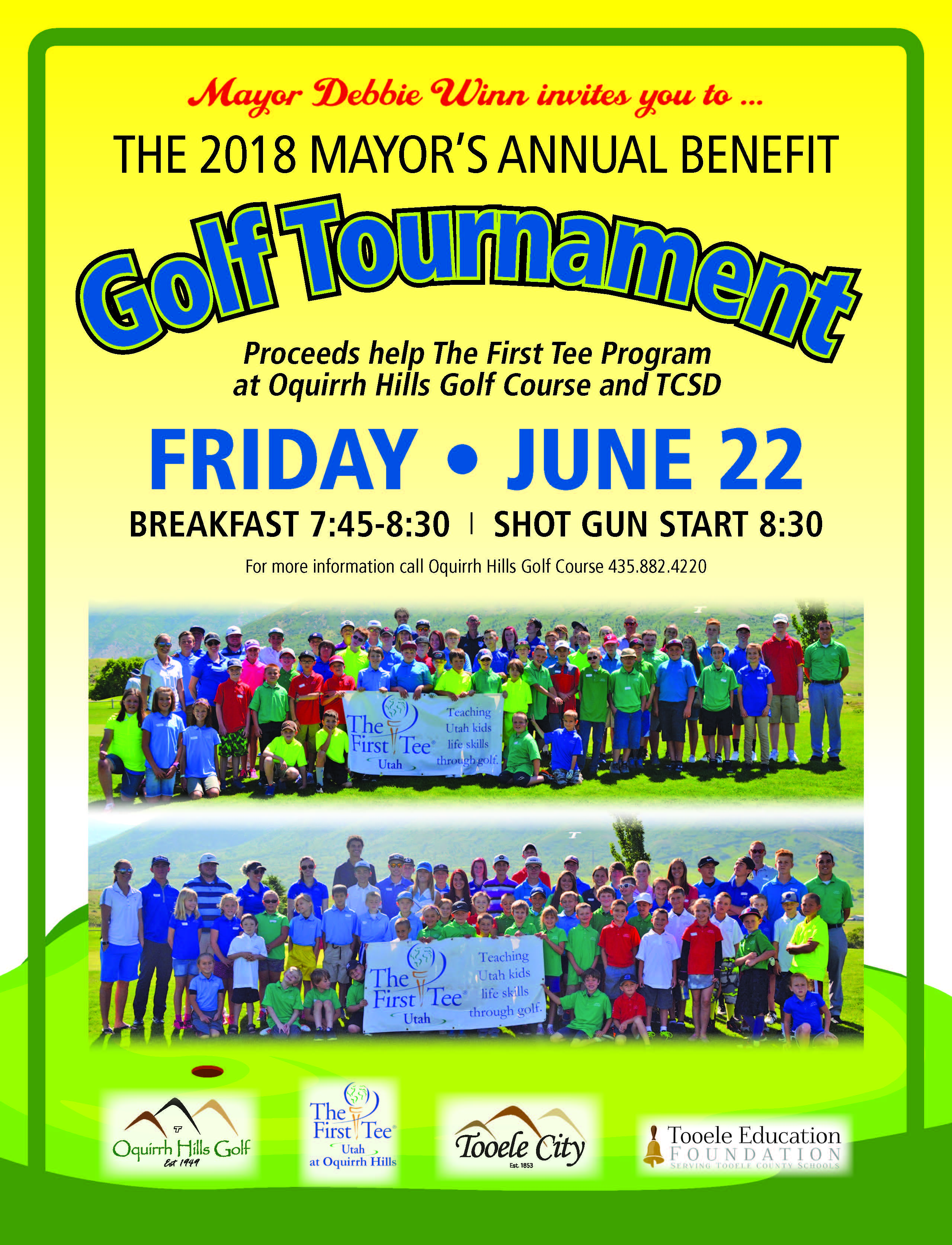 The Mayor's Annual Benefit Golf Tournament 2018 @ Oquirrh Hills Golf Course | Tooele | Utah | United States