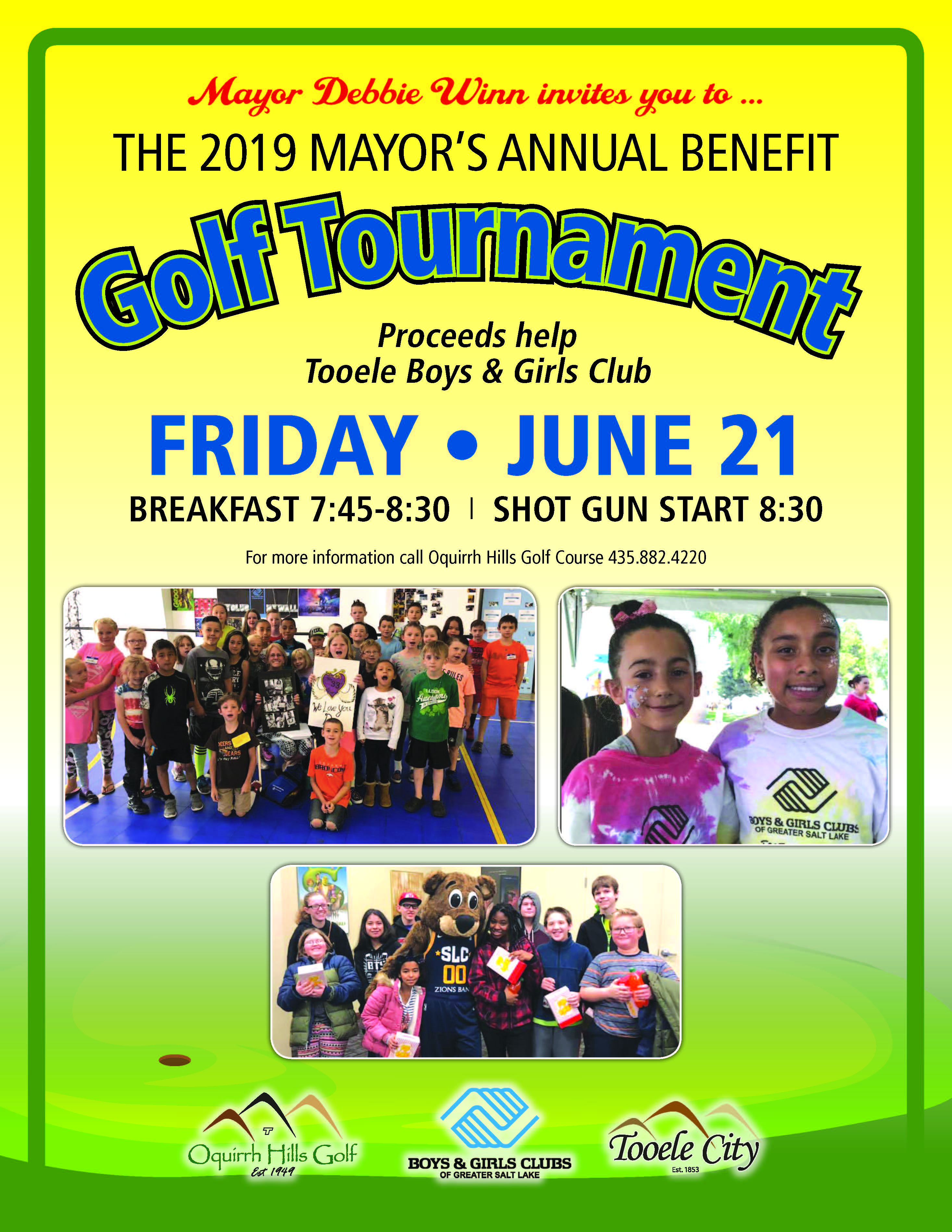 The Mayor's Annual Benefit Golf Tournament 2019 @ Oquirrh Hills Golf Course | Tooele | Utah | United States