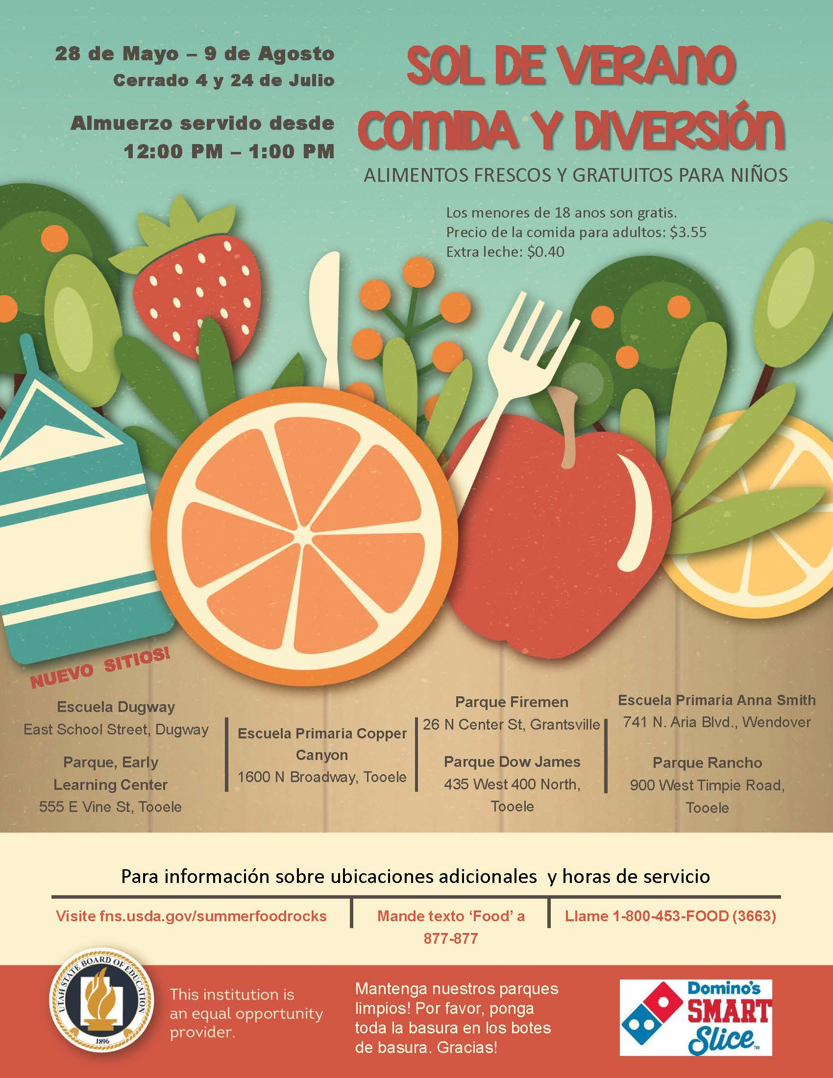 Summer Food Flyer 2019_Spanish