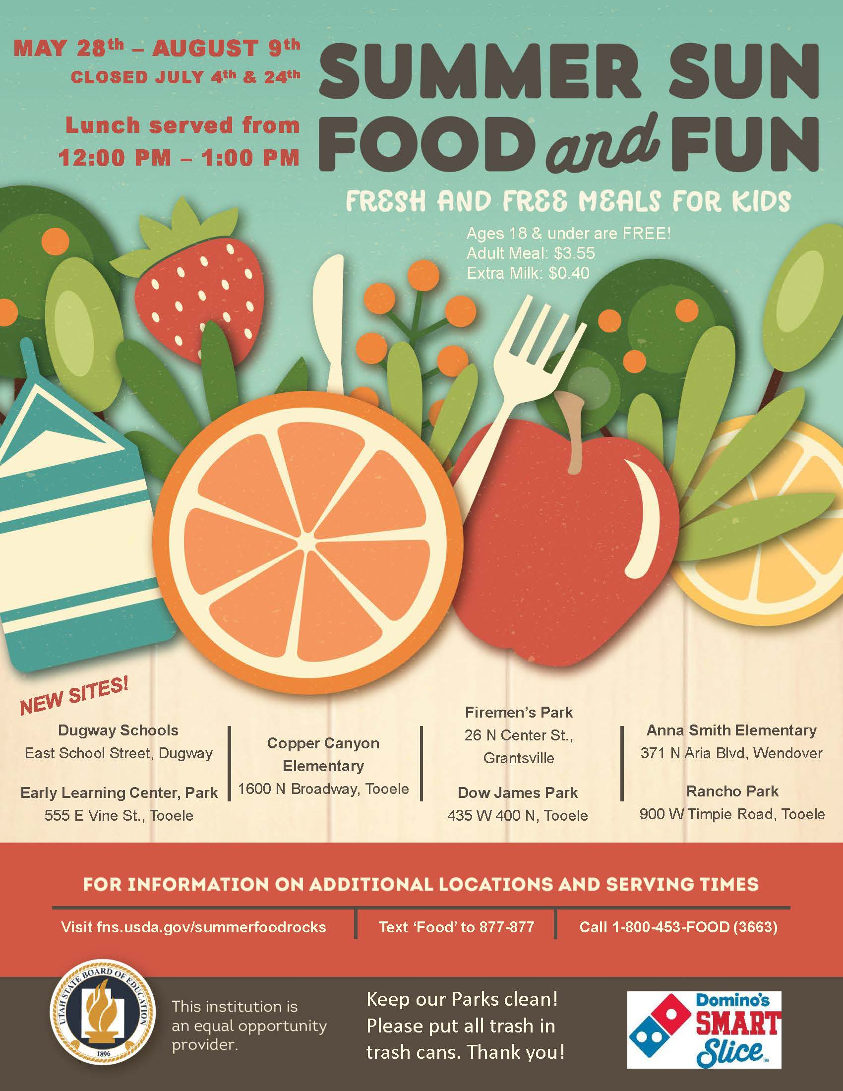 Summer Food Flyer 2019_English