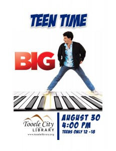 Teen Time: Big Movie @ Tooele City Library | Tooele | Utah | United States