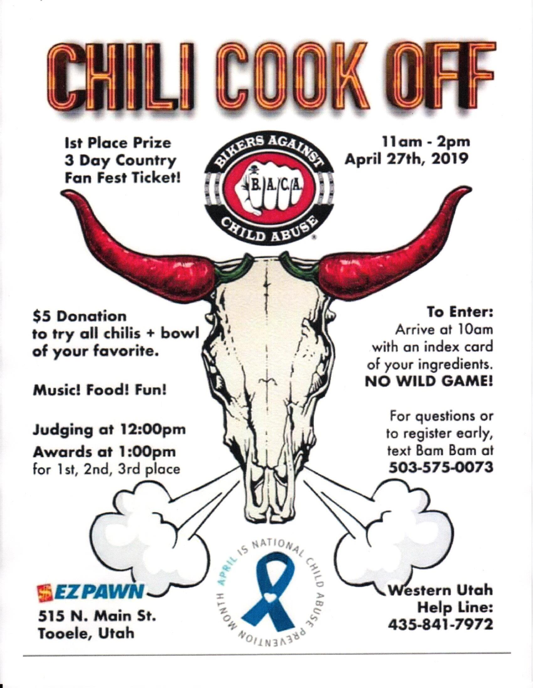 BACA Chili Cook Off 2019