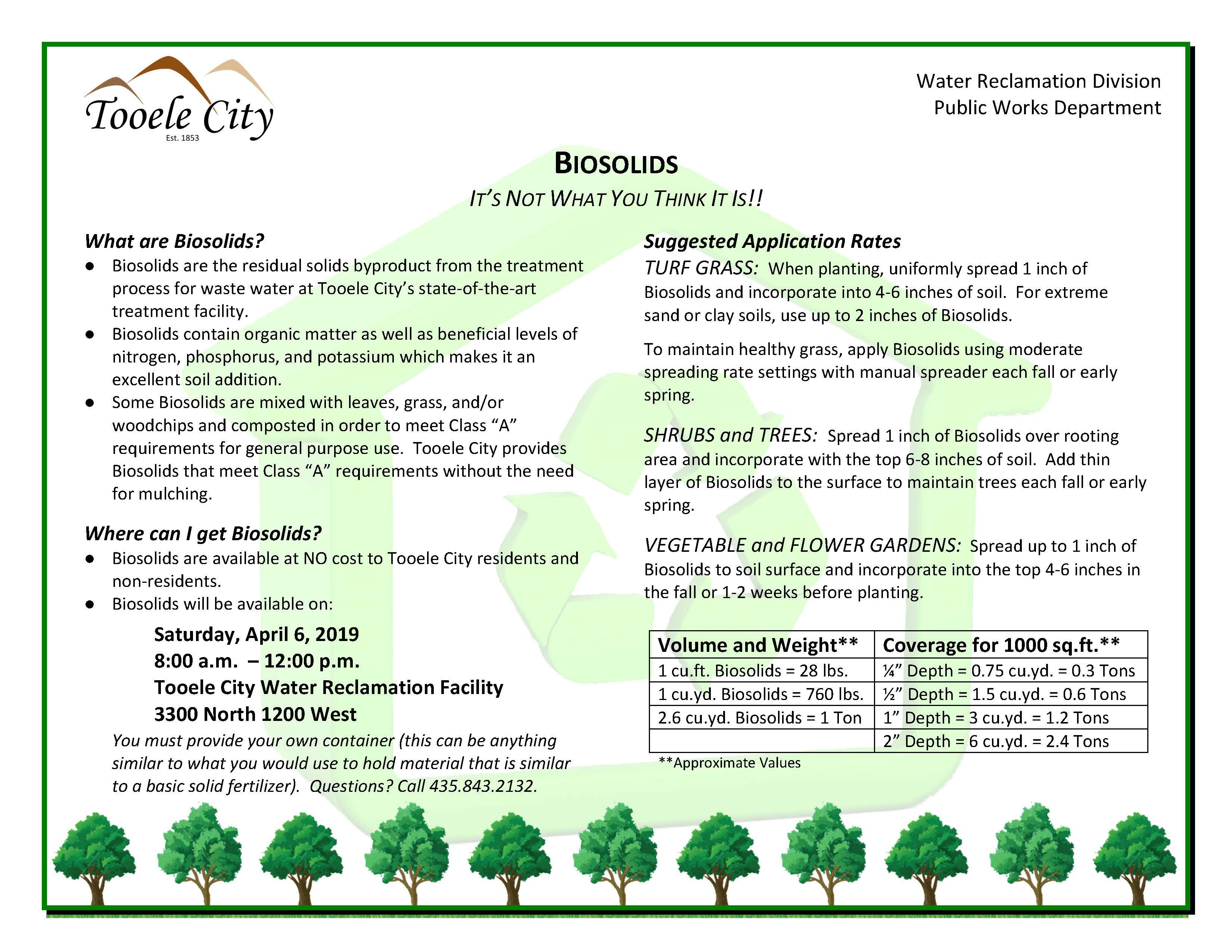 Biosolids Flyer April 2019