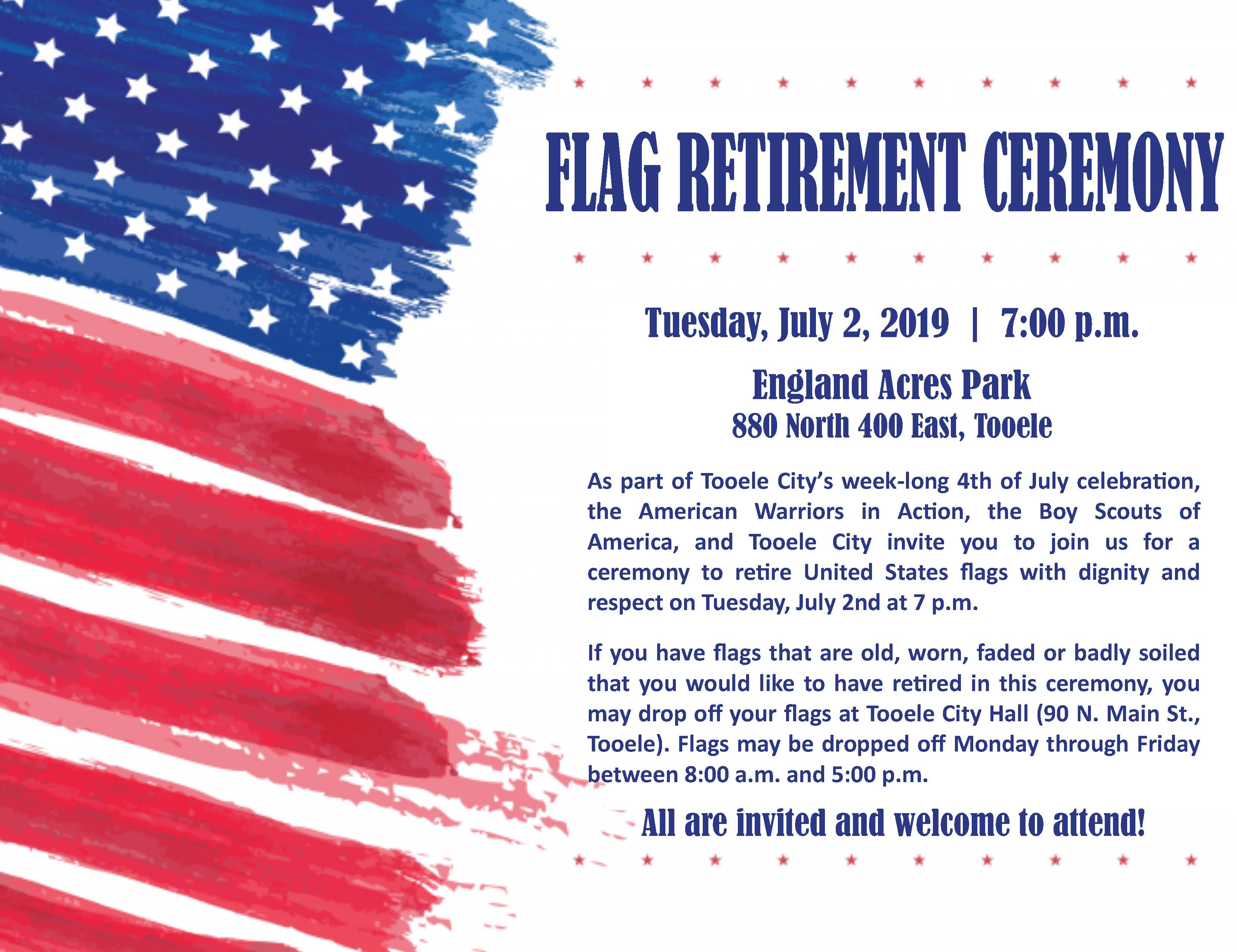 Flag Retirement Ceremony @ England Acres Park | Tooele | Utah | United States