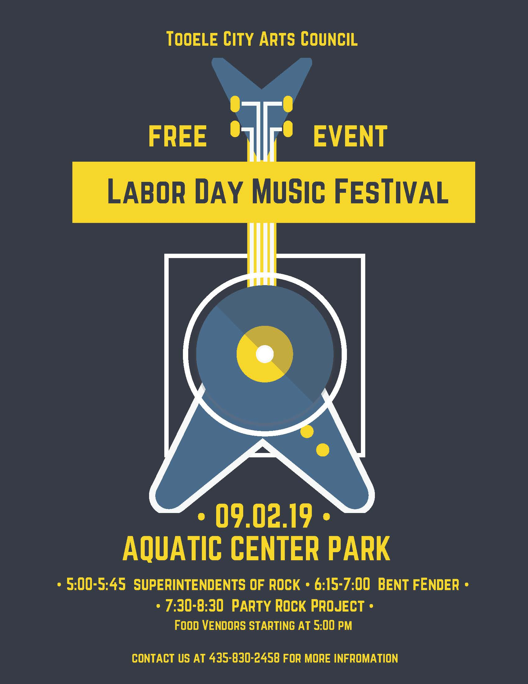 Labor Day Music Festival 2019 @ Aquatic Center Park | Tooele | Utah | United States