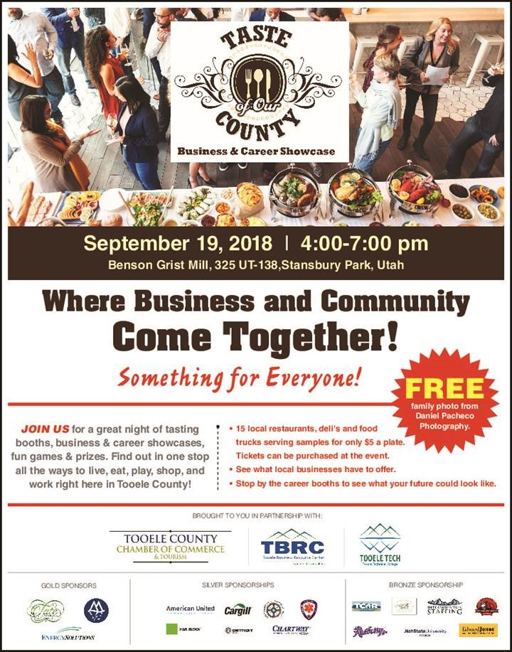 Taste of Our County Business and Career Showcase @ Benson Grist Mill | Stansbury Park | Utah | United States