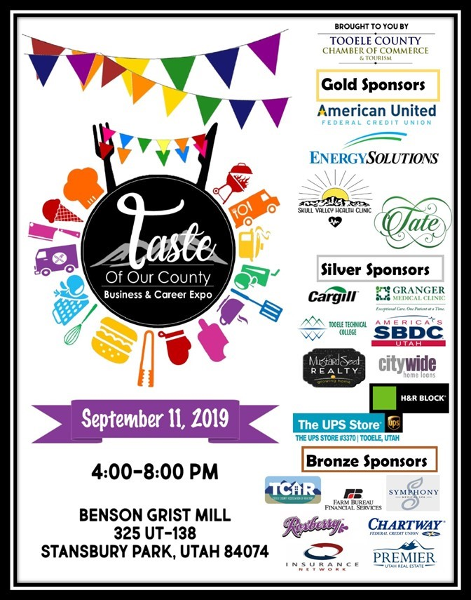 Taste of Our County Business and Career Expo @ Benson Grist Mill | Stansbury Park | Utah | United States