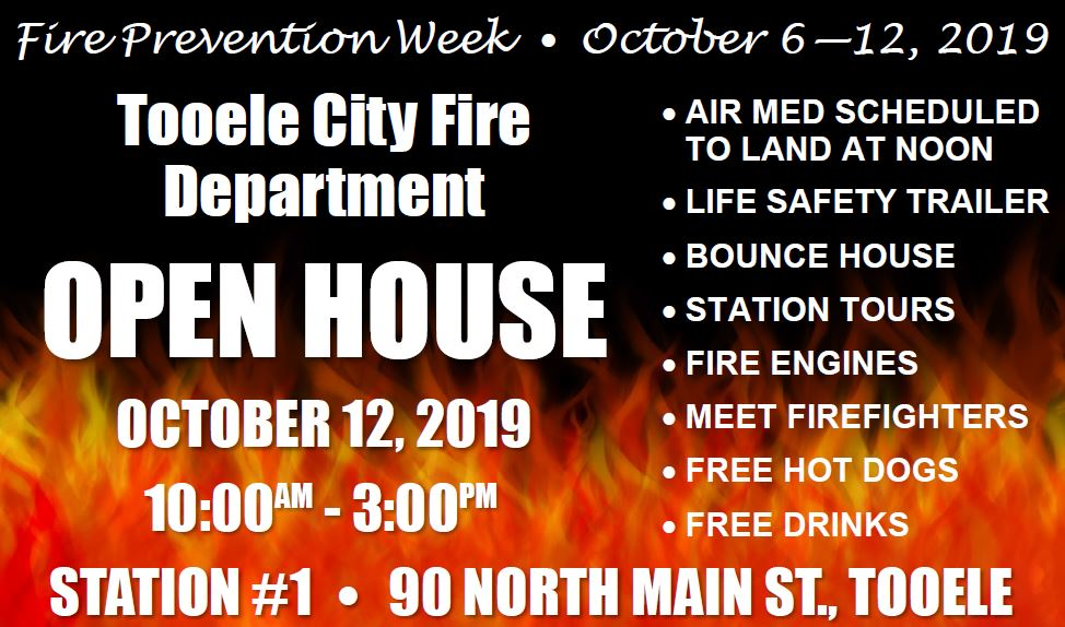 Fire Prevention Week Open House @ Tooele City Fire Station #1 | Tooele | Utah | United States