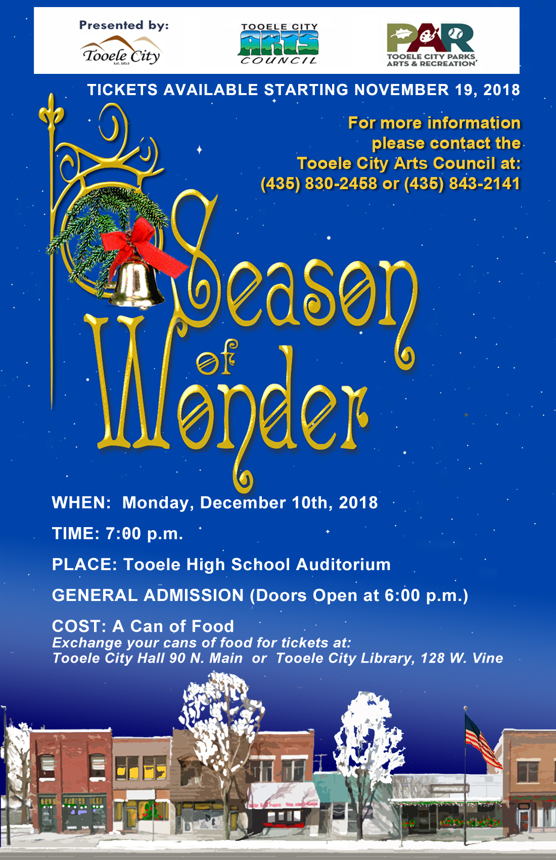 Season of Wonder @ Tooele High School Auditorium | Tooele | Utah | United States