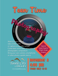 Teen Time: Photography @ Tooele City Library | Tooele | Utah | United States