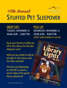 10th Annual Stuffed Animal Sleepover (Drop Off) @ Tooele City Library | Tooele | Utah | United States