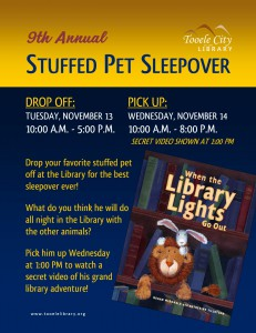 Stuffed Animal Sleepover (Drop Off) @ Tooele City Library | Tooele | Utah | United States
