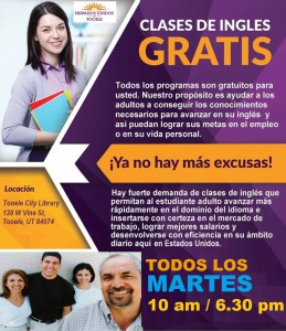Clases De Ingles Gratis / Free English Classes @ Tooele City Library | Tooele | Utah | United States