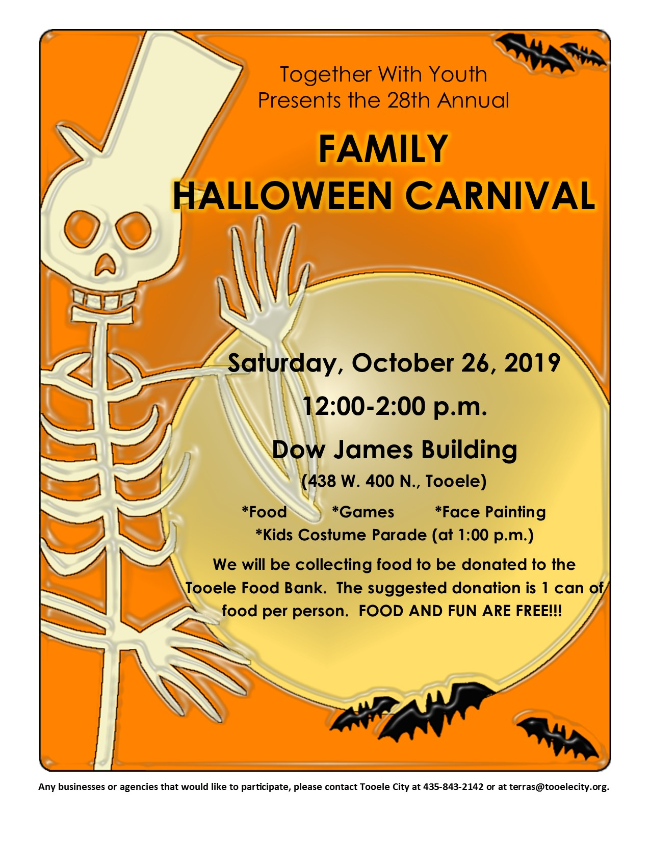 Family Halloween Carnival 2019 @ Dow James | Tooele | Utah | United States