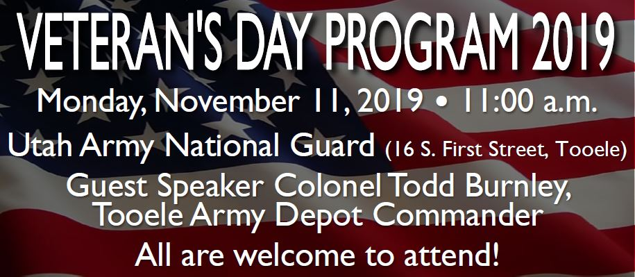 Veteran's Day Program 2019 @ Utah Army National Guard Building | Tooele | Utah | United States