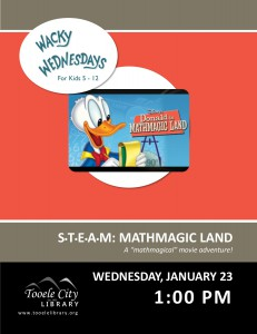 STEAM: Mathmagic Land (Wacky Wednesday) @ Tooele City Library | Tooele | Utah | United States