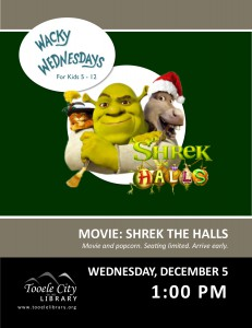 Movie: Shrek the Halls (Wacky Wednesday) @ Tooele City Library | Tooele | Utah | United States