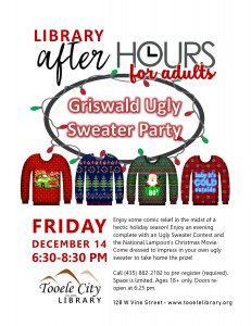 Griswald Night (After-Hours for Adults) @ Tooele City Library | Tooele | Utah | United States