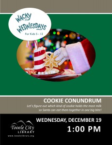STEAM: Cookie Conundrum (Wacky Wednesday) @ Tooele City Library | Tooele | Utah | United States