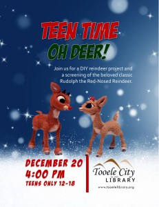 Teen Time: Oh DEER! @ Tooele City Library | Tooele | Utah | United States
