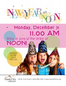 New Year at Noon Party @ Tooele City Library | Tooele | Utah | United States