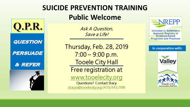 QPR Suicide Prevention Training February 2019