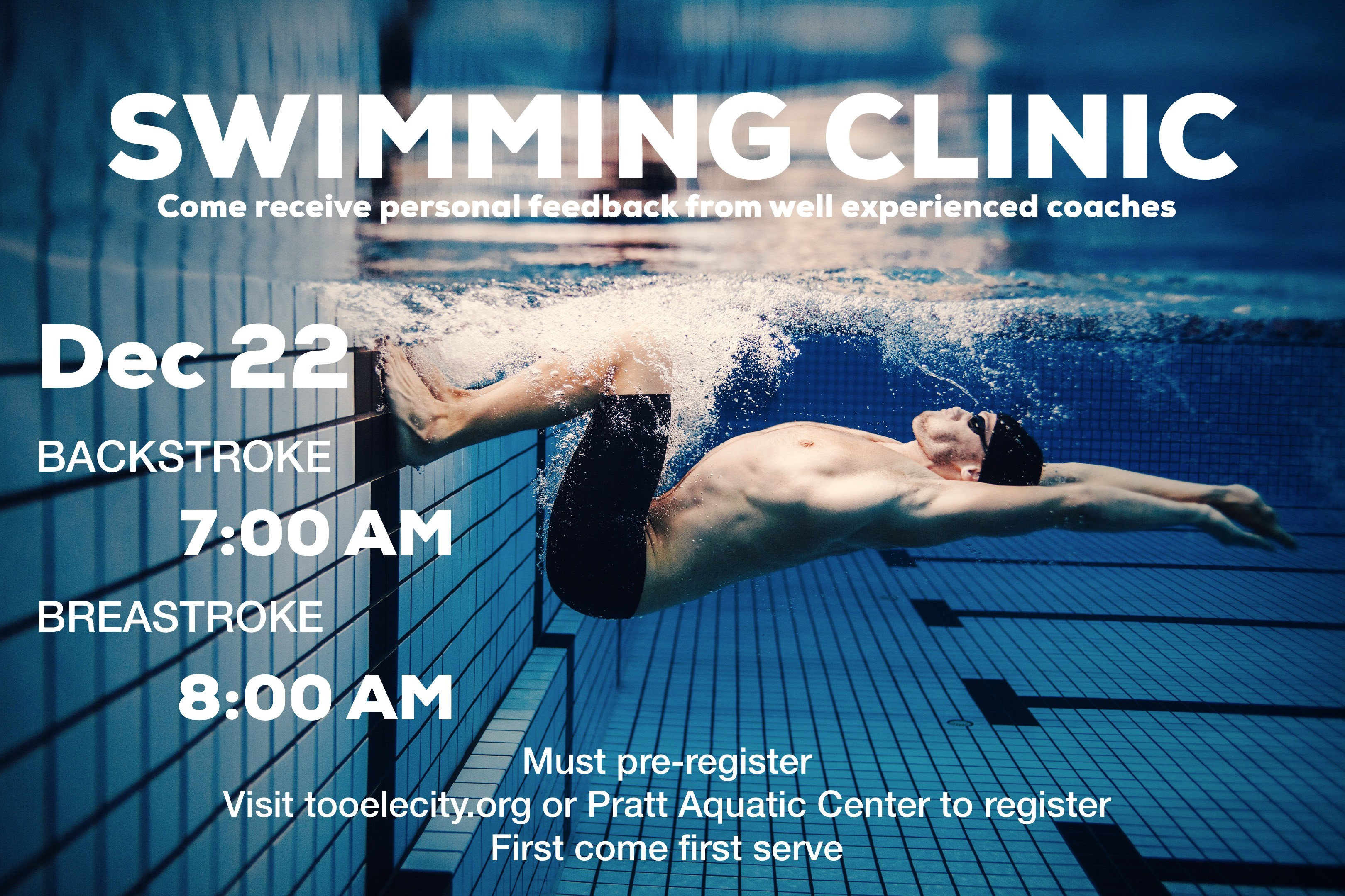 Swimming Clinic - Backstroke @ Pratt Aquatic Center | Tooele | Utah | United States
