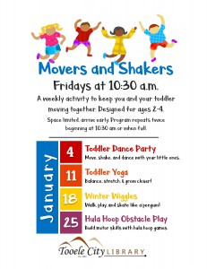 Toddler Dance Party (Movers & Shakers) @ Tooele City Public Library