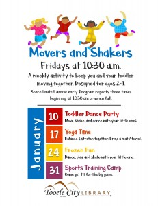 Frozen Fun (Movers & Shakers) @ Tooele City Public Library