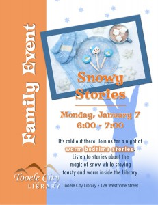 Family Event: Snowy Stories @ Tooele City Library | Tooele | Utah | United States