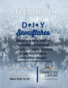Teen Time: DIY Snowflakes @ Tooele City Library | Tooele | Utah | United States