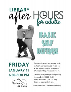 Self-Defense Basics (After-Hours for Adults) @ Tooele City Library | Tooele | Utah | United States