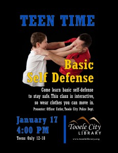 Teen Time: Basic Self-Defense @ Tooele City Library | Tooele | Utah | United States