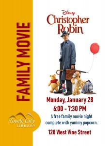 Family Movie: Christopher Robin @ Tooele City Library | Tooele | Utah | United States