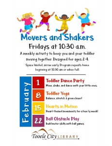 Hearts in Motion (Movers & Shakers) @ Tooele City Public Library