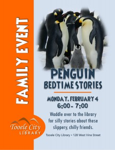 Family Event: Penguin Bedtime Stories @ Tooele City Library | Tooele | Utah | United States