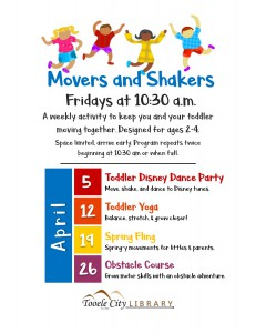 Toddler Disney Dance Party (Movers & Shakers) @ Tooele City Public Library