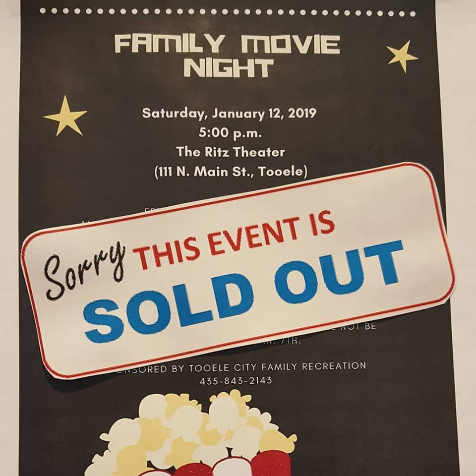 Family Movie Night - A Free Family Activity @ The Ritz Theater | Tooele | Utah | United States