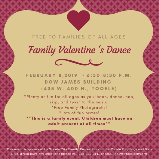 Family Valentine's Dance 2019 @ Dow James Building | Tooele | Utah | United States