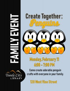Family Craft: Penguins @ Tooele City Library | Tooele | Utah | United States