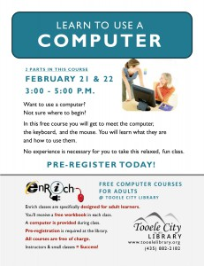 Free Course: Meet the Computer (Adults) @ Tooele City Library | Tooele | Utah | United States