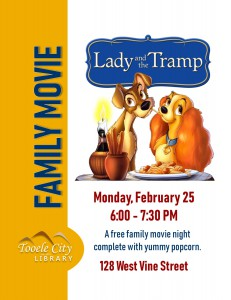 Family Movie: The Lady and the Tramp @ Tooele City Library | Tooele | Utah | United States