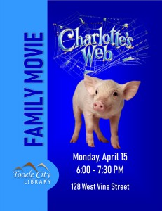Family Movie: Charlotte's Web @ Tooele City Library | Tooele | Utah | United States