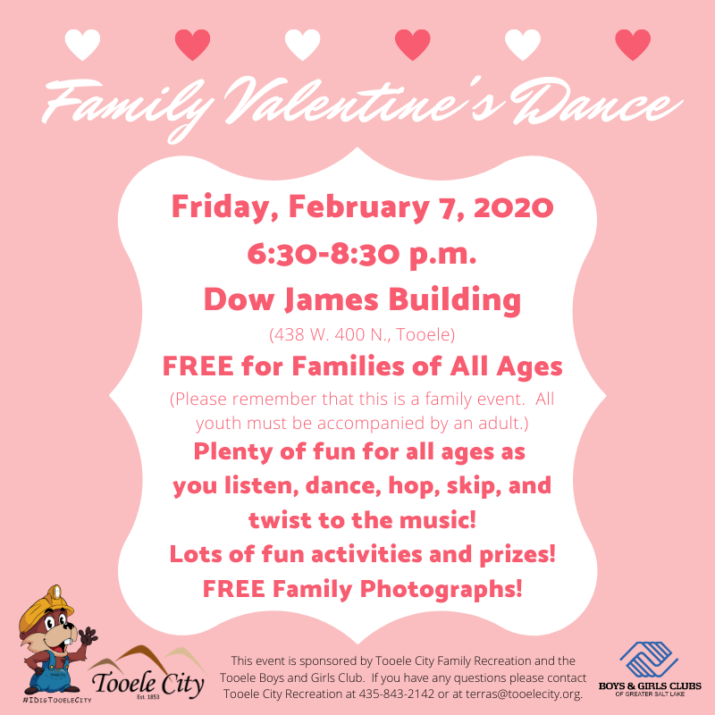 Family Valentine's Dance 2020 @ Dow James Building | Tooele | Utah | United States