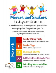 Toddler Yoga (Movers & Shakers) @ Tooele City Public Library